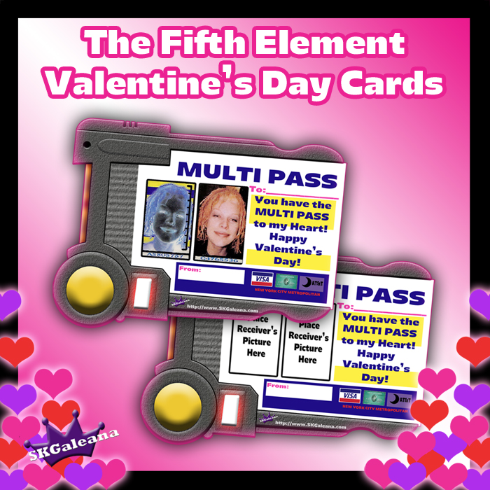 Fifth ele,ent Valentine's Day Cards