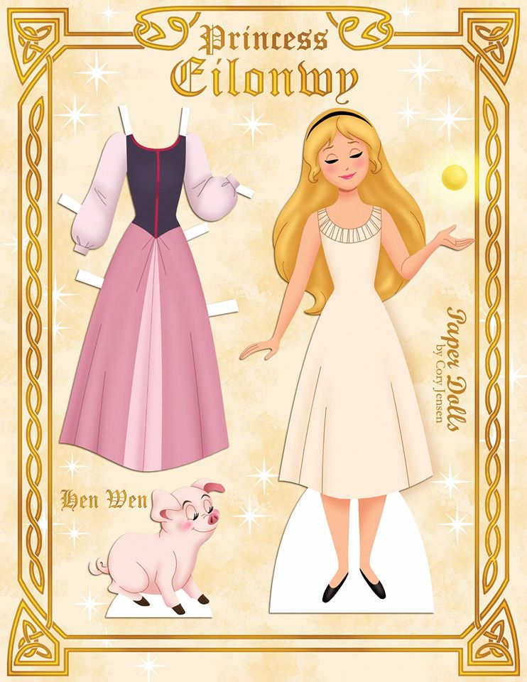 Disney princess eilonwy printable paper doll skgaleana princess eilonwy from disneys the black cauldron altavistaventures Image collections