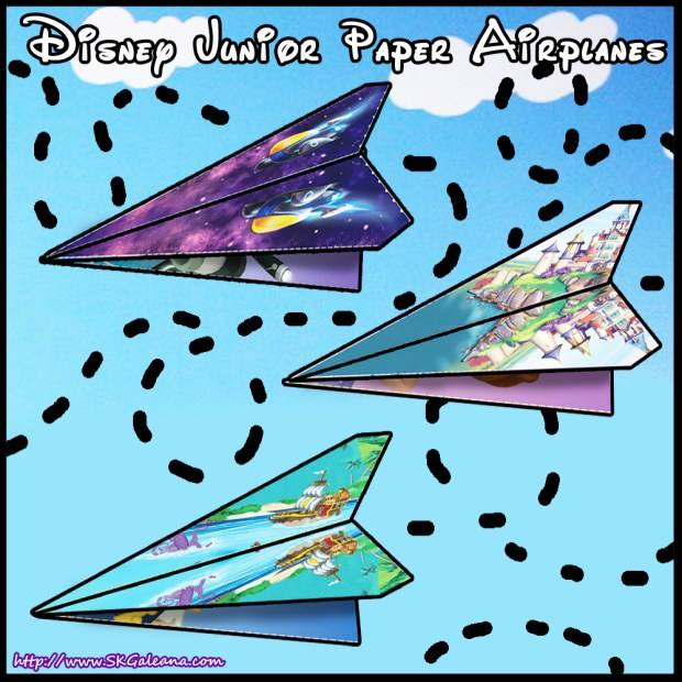 Disney Junior Paper Airplanes