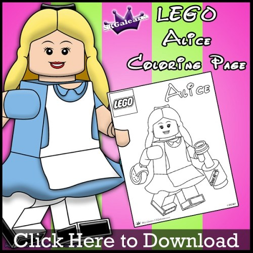 Lego Alice Coloring Page by SKGaleana Download image