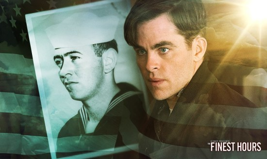 Chris Pine plays Bernie Webberin Disney;s Movie: The Finest Hours.  Picture from: https://www.facebook.com/TheFinestHoursMovie