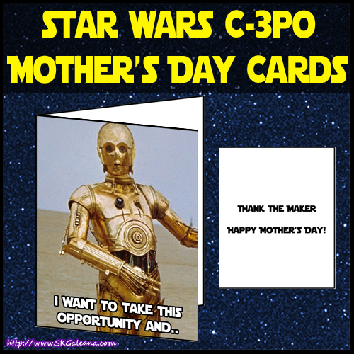 c3po Mothers day card by SKGaleana image