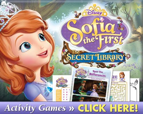 Sofia the First The Secret Library Printable Activities