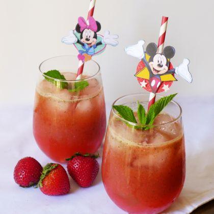 Strawberry Basil Mint Lemonade