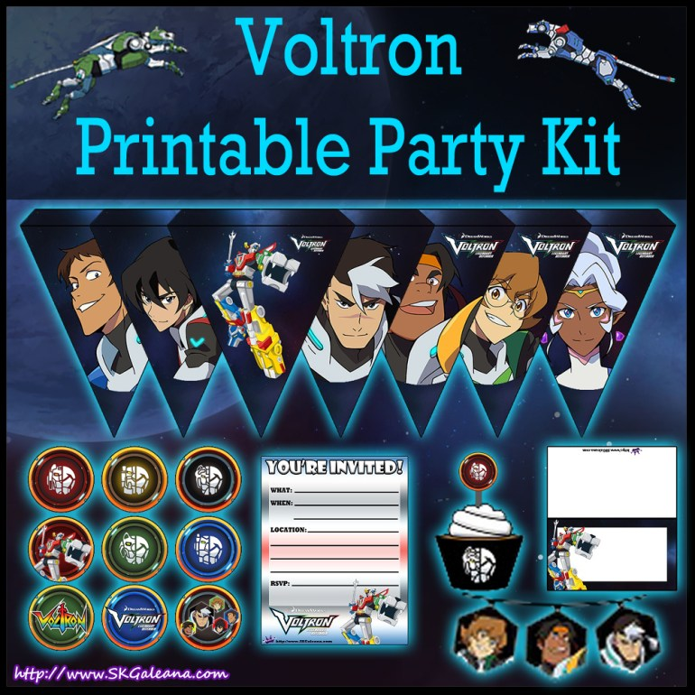 Printable Voltron Legendary Defenders Party Kit Skgaleana