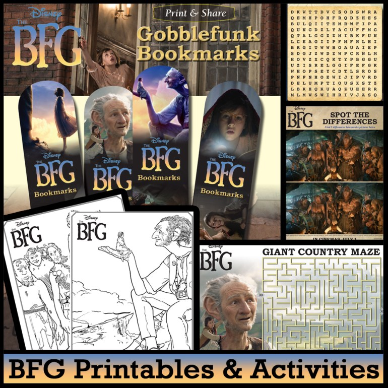Disney BFG Printables and Activities