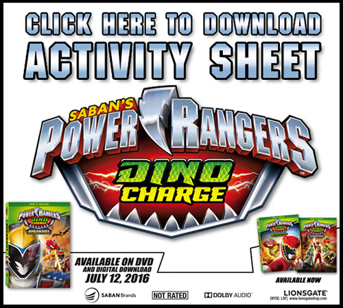 Power Rangers Printable Activity Sheet