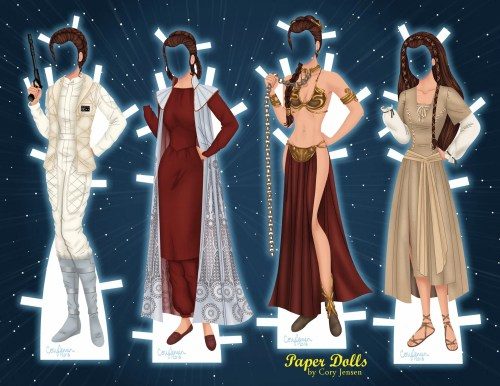 Printable Princess Leia Paper Dolls By Cory