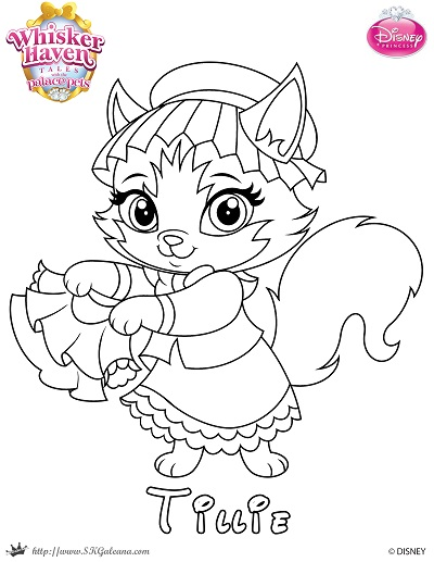 Palace Pets Coloring Pages 2 Disney Book Whisker Haven Tales Page Of Tillie Skgaleana