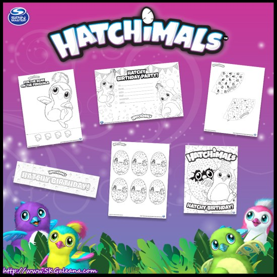 Hatchimals Printables Birthday Party Supplies