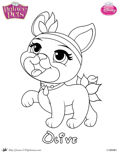- Free Princess Palace Pets Coloring Page Of Olive – SKGaleana