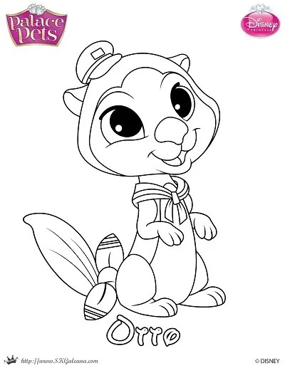 free princess palace pets coloring page of otto skgaleana