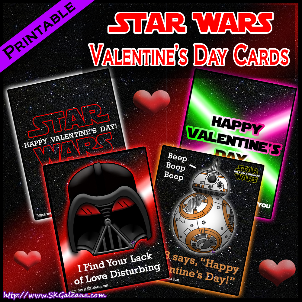 Free Printable Star Wars Valentine s