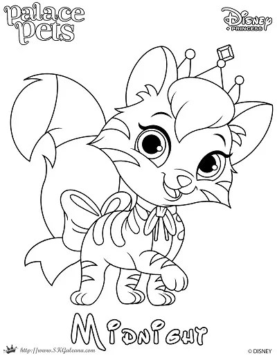Princess Palace Pet Coloring Page of Midnight | SKGaleana