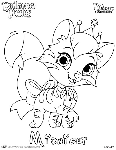 Free Printable Princess Palace Pet Coloring Page of ...
