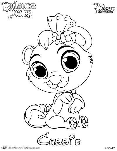 Princess Palace Pet Coloring Page of Cubbie SKGaleana