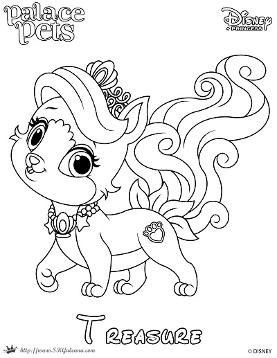 princess pets coloring pages - princess palace pet coloring page of treasure skgaleana