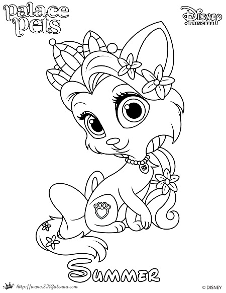 Princess Palace Pet Coloring Page Of Summer SKGaleana - Enjoy your summer coloring page