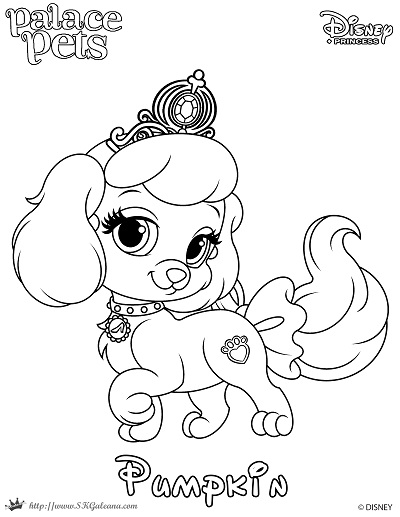 Free Coloring Page Featuring Pumpkin From Disney S Princess
