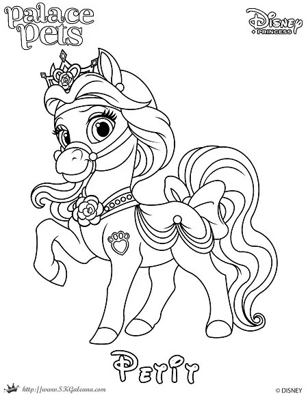 Princess Palace Pet Coloring Page
