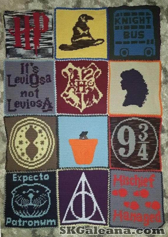 Harry Potter Crochet Blanket Pattern By Skgaleana Skgaleana