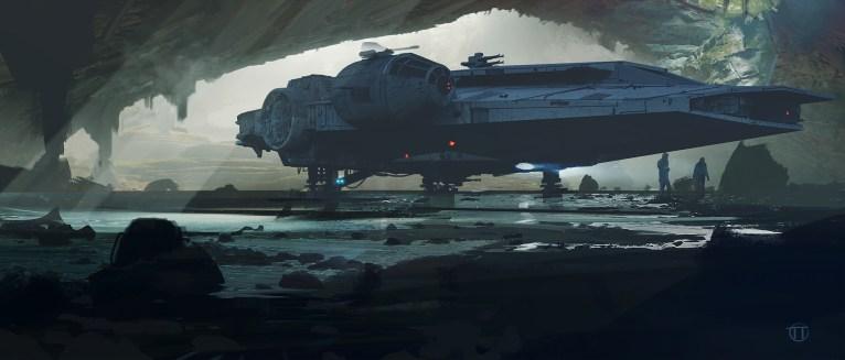 Millennium Falcon Concept Art 11