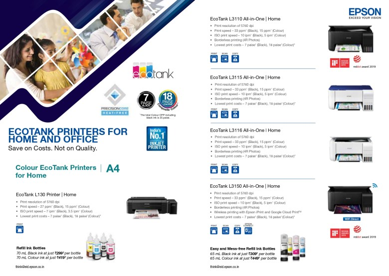 EPSON ALL PRODUCTS RANGE JULY 2020 4