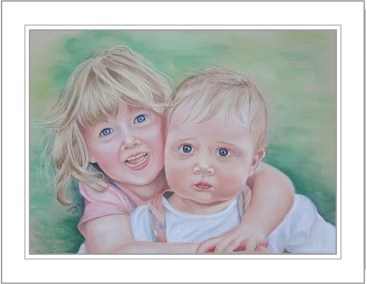 Portrait of brother and sister