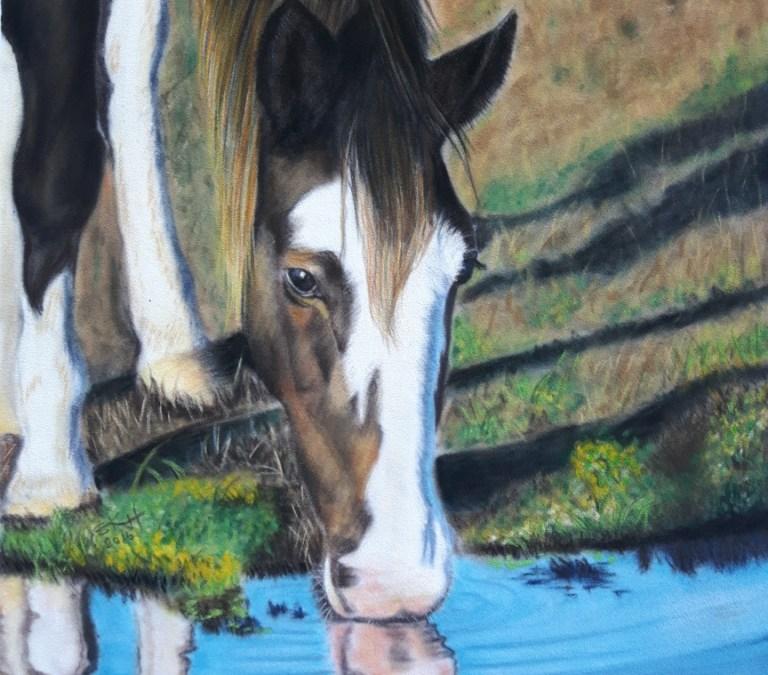 Pastel Horse Portrait