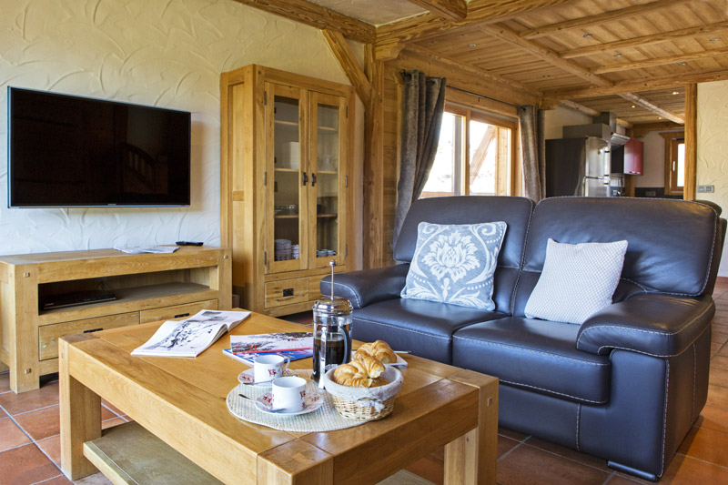 Living Room of the Chalet Fleur de Neige in Les Gets
