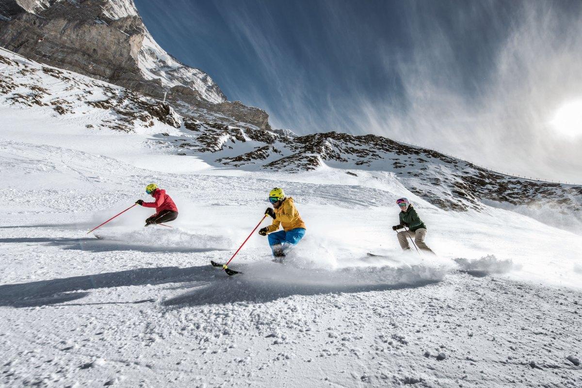 Skifahren bei den Jungfraubahnen