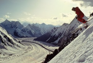 Gasherbrum 1 ski descent - Baltoro glacier