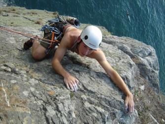 Gogarth climbing. Classic