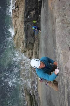 South Wales trad climbing