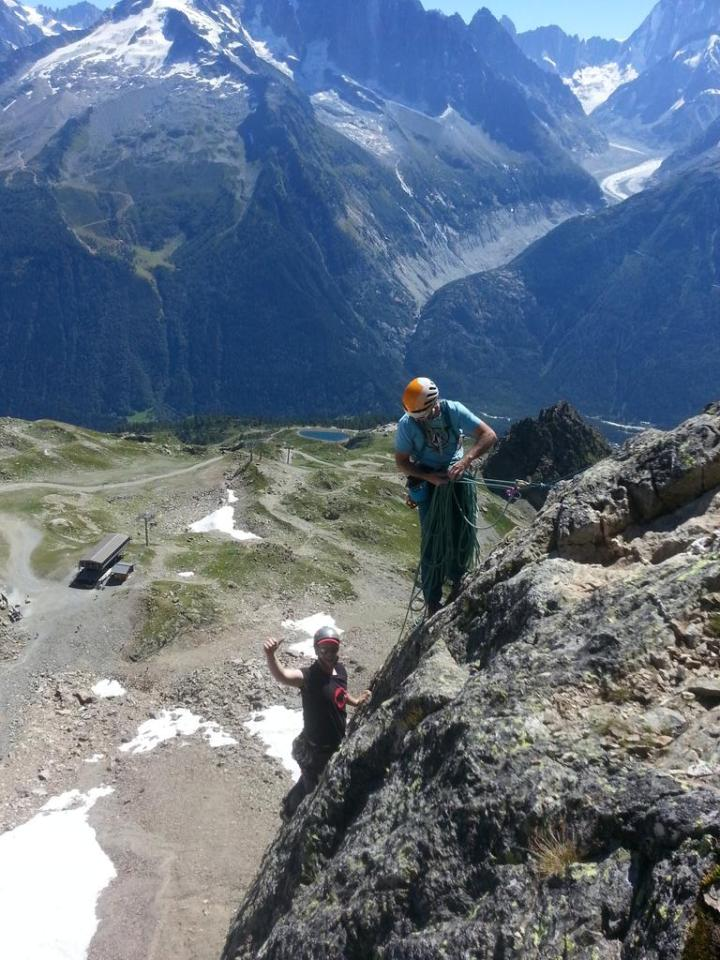 Rocking in Chamonix