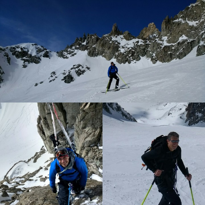 Ski touring today with Dan