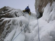 Scottish ice climbing