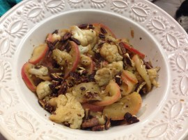Sauteed Cauliflower & Apples with Toasted Pecans