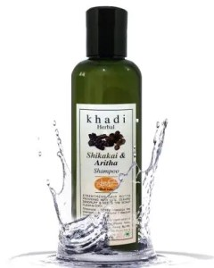 Khadi Herbal Shikakai Shampoo Natural Hair Nourishment & Root Strengthening Paraben & Sulfate free Hair Shampoo