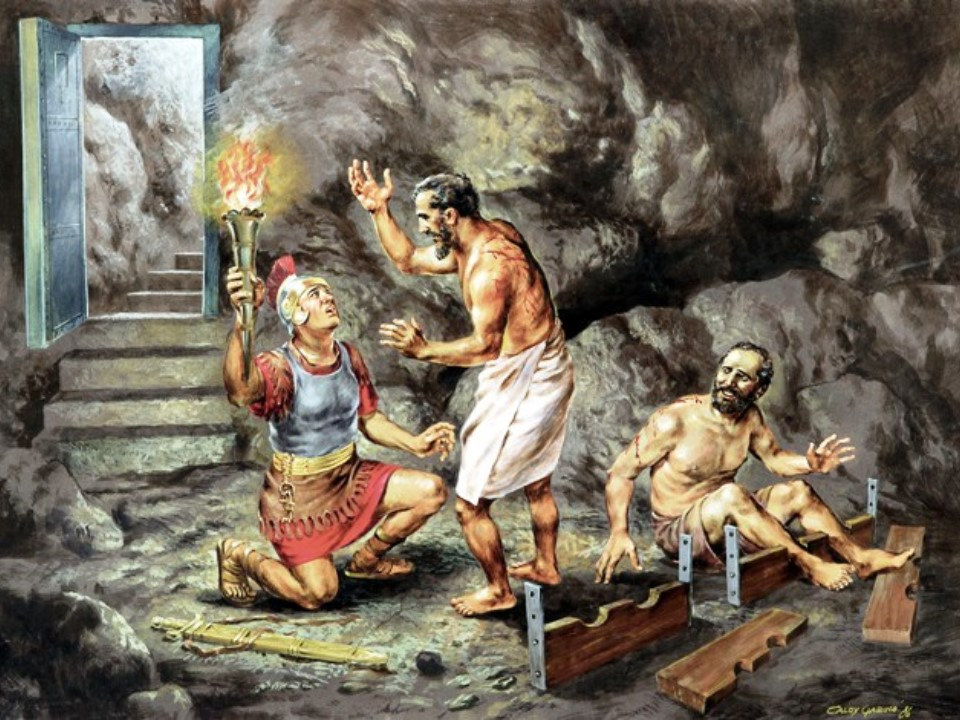 Image result for Paul and Silas were praying and singing God's praises, art, pictures