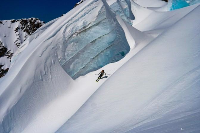 Ryan skiing the South Cameron Glacier.
