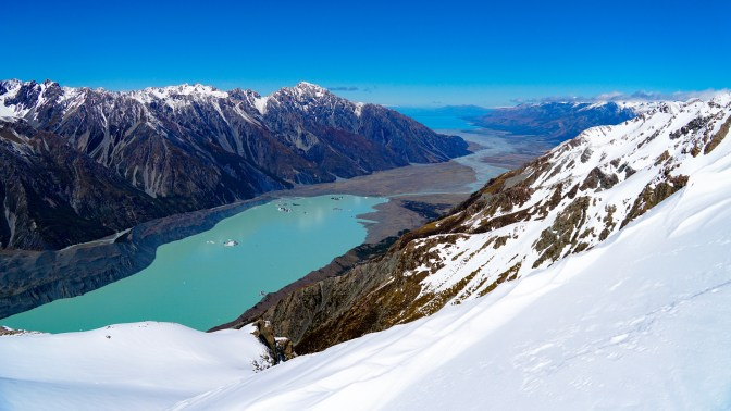 Tasman Lake and Lake Pukaki
