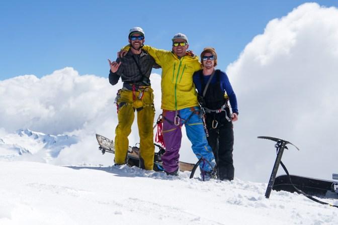 Marko, Joel and Michael, the rag tag Elie summit team