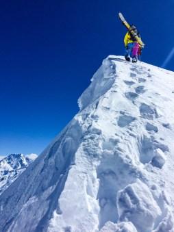 Joel nearing the Elie De Beaumont Summit