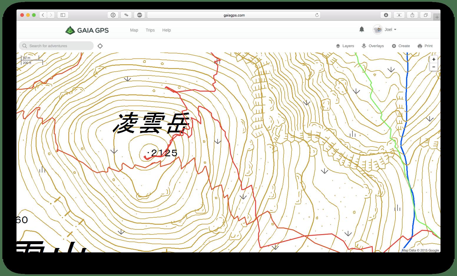 Gaia GPS Map Sources – Ski Descent