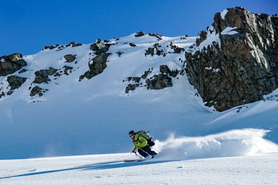 Luke finding some powder on the way down