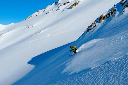 Luke powder skiing