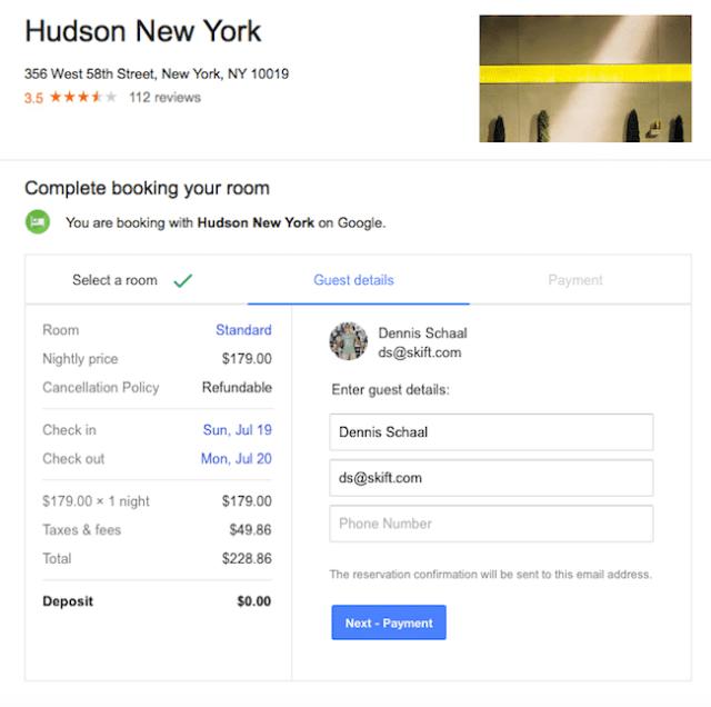 Google guest details