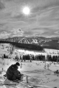 xc skiing Corona Pass