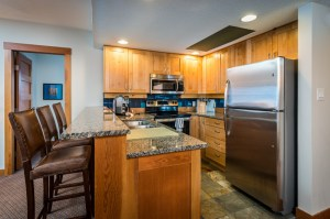 3 bedroom the legends whistler ski in ski out kitchen